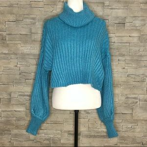 Urban Outfitters blue turtleneck sweater